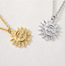 Load image into Gallery viewer, Sun & Moon Boho Necklace