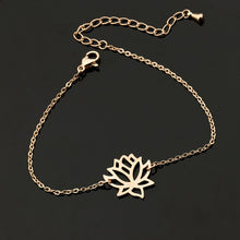Load image into Gallery viewer, Lotus Flower Bracelet