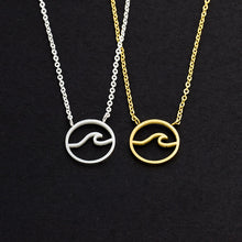 Load image into Gallery viewer, Kai Circle Ocean Wave Necklace
