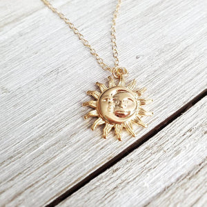 Sun & Moon Boho Necklace