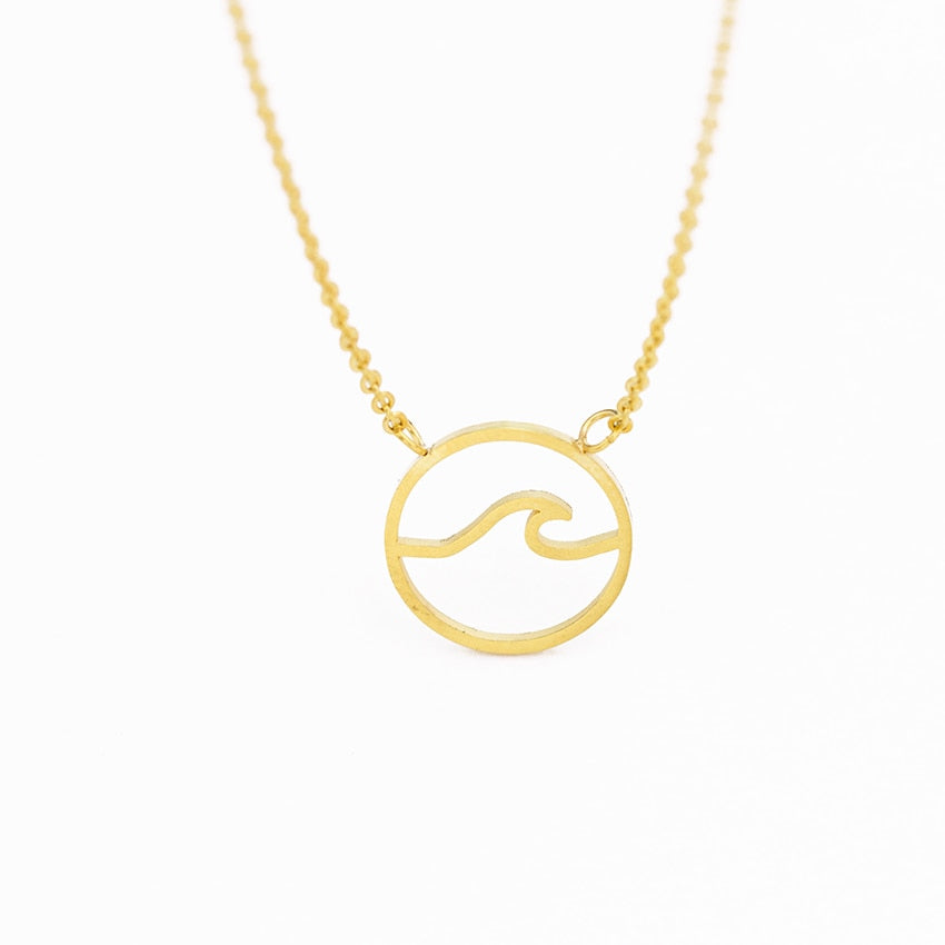 Kai Circle Ocean Wave Necklace
