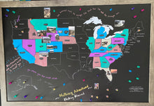 Load image into Gallery viewer, Chalkboard Map - United States Edition