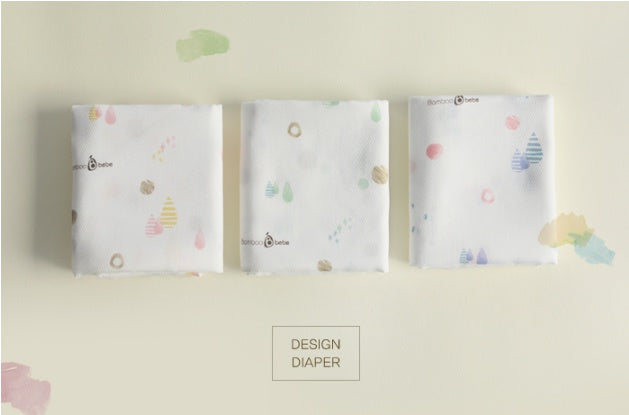 Bamboo Bebe square design diaper 5pcs