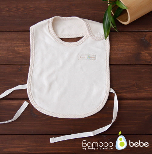 Bamboo Cream Bib - nature as shop