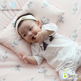 Mild bamboo relief baby duvet set_Pink (Quilt + Pad + pillow) - nature as shop