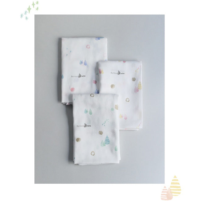 Mild Bamboo Cotton Candy Square Diaper Design (3pcs) - nature as shop