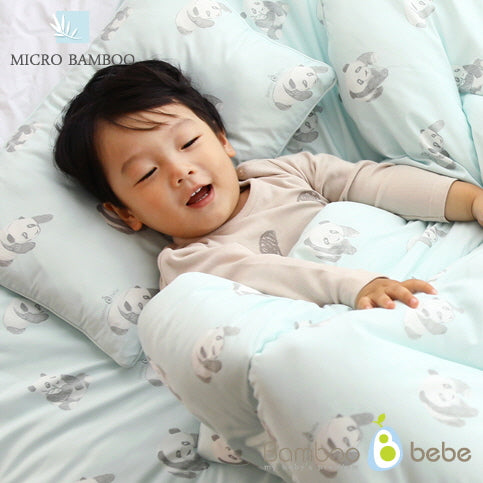Mild bamboo relief baby duvet set_Gray (Quilt + Pad + pillow) - nature as shop