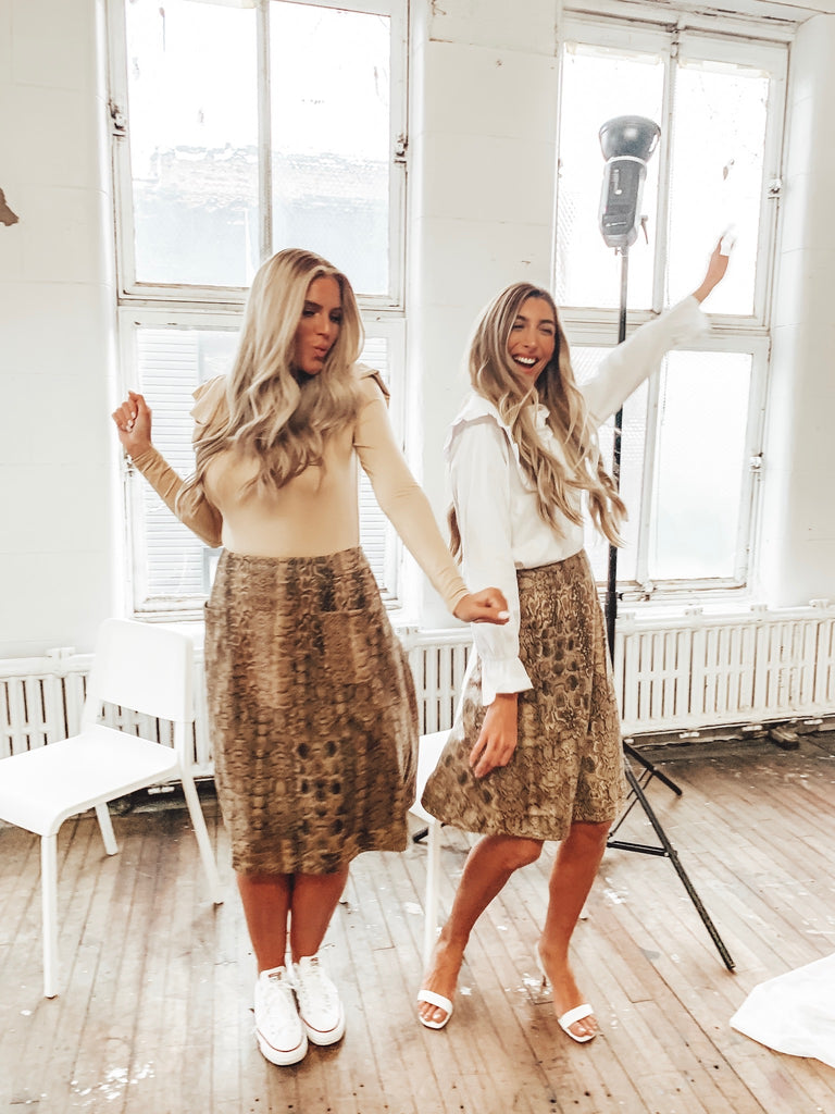 The Snakeskin Jane Skirt *Tall*