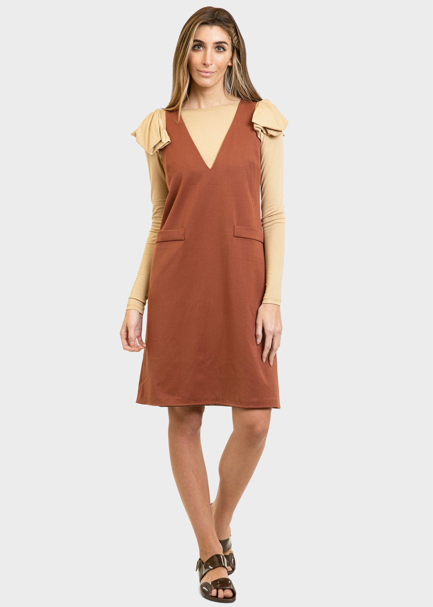 The Esther Dress Cinnamon