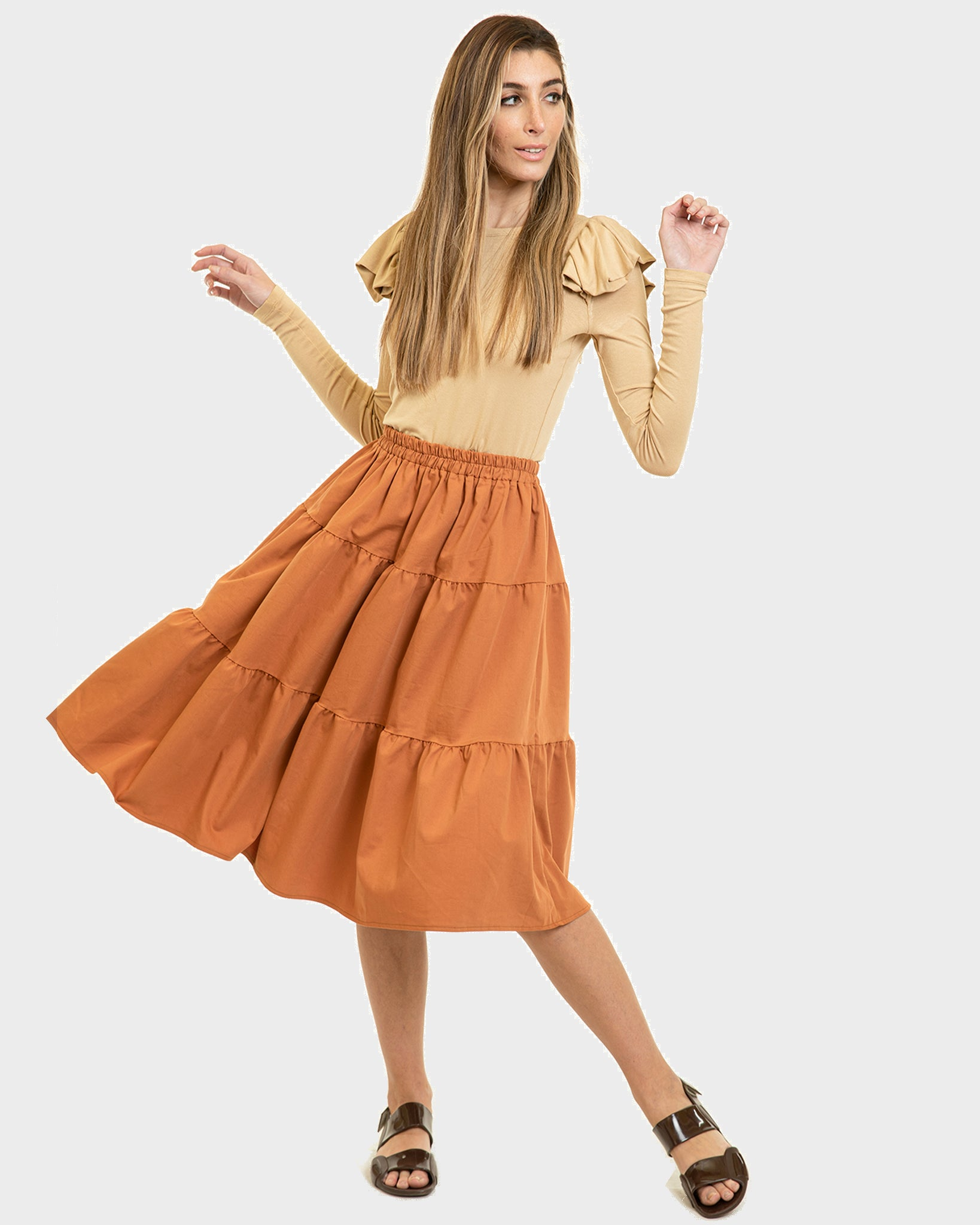 The Flirt Skirt Pumpkin Spice Tall