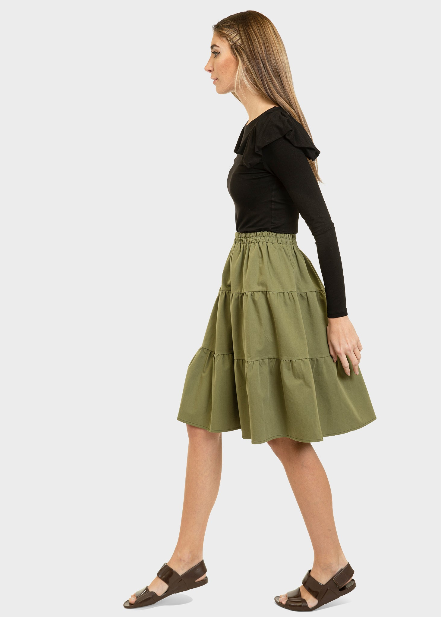 The Flirt Skirt Khaki