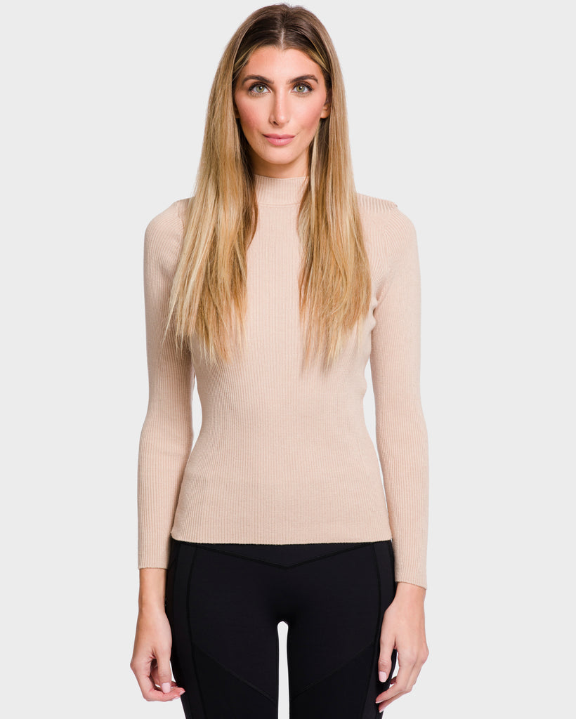 The Sunny Mock Neck Nude