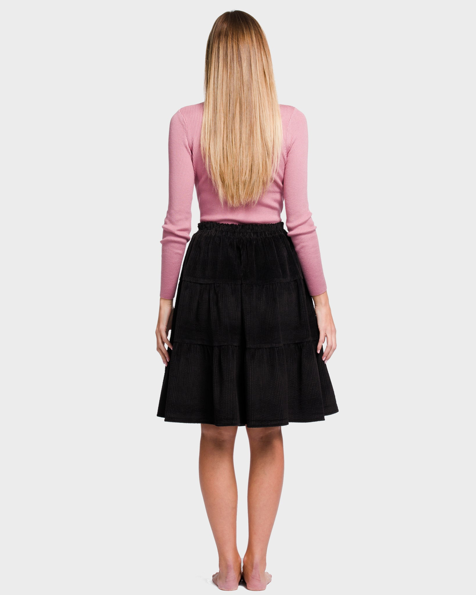 The Corduroy Flirt Skirt Black