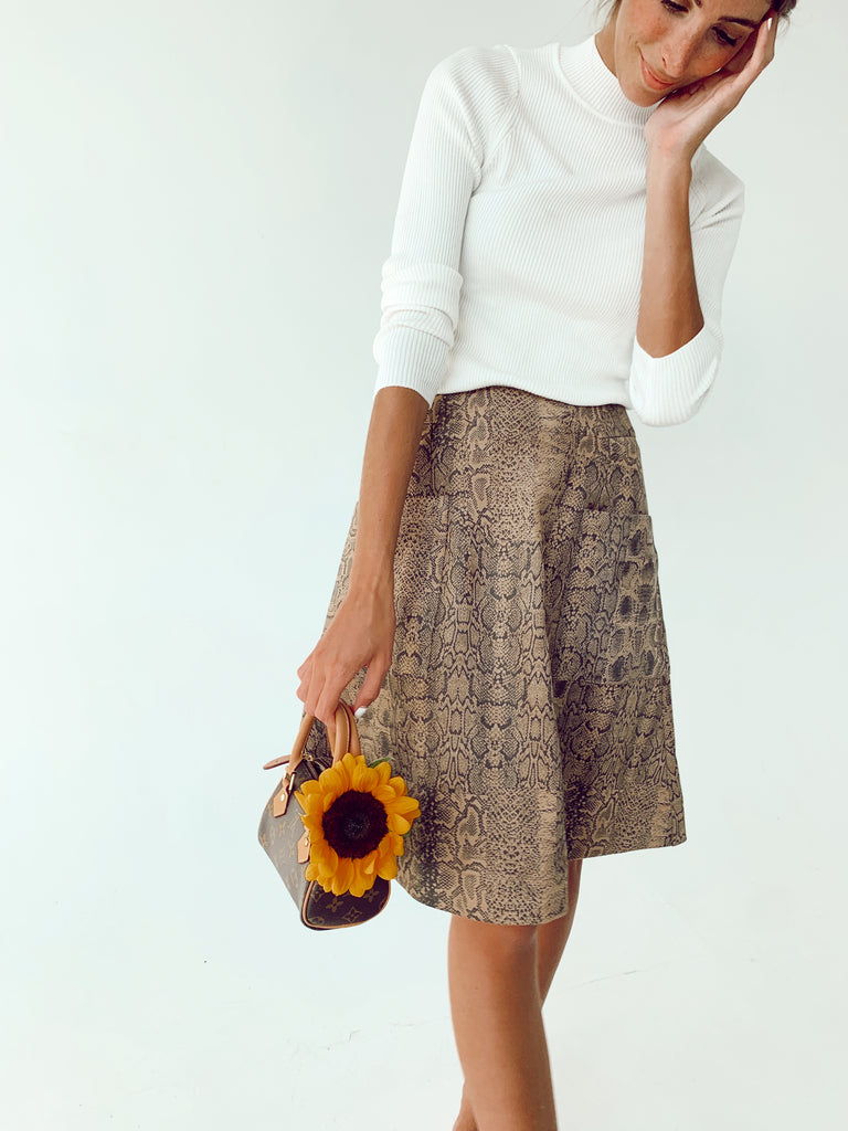 The Snakeskin Jane Skirt