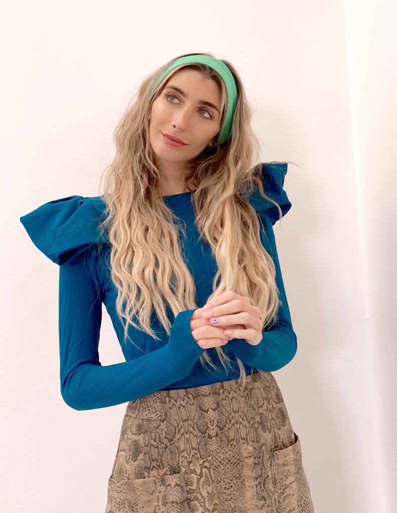The Flutter Top in Teal