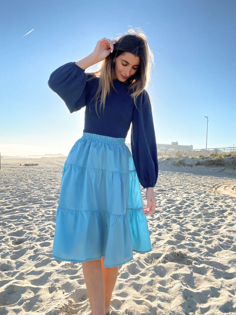 The Sky Flirt Skirt *New Tall Length*