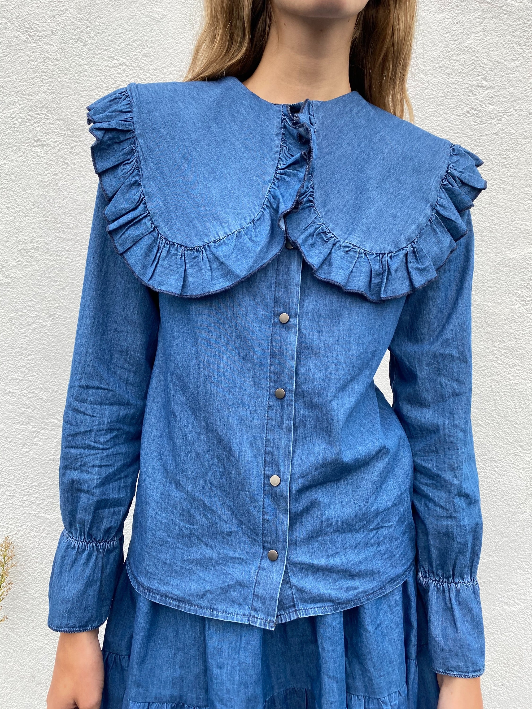 Denim Bohemian Blouse