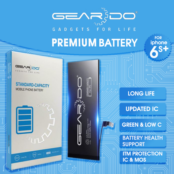 Premium Geardo iPhone 6s Plus Battery Standard Capacity 2750mAh