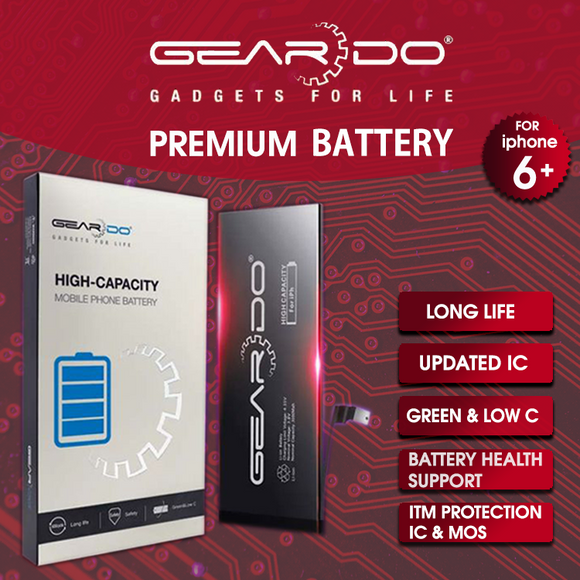Premium Geardo iPhone 6 Plus Battery High Capacity 3350mAh