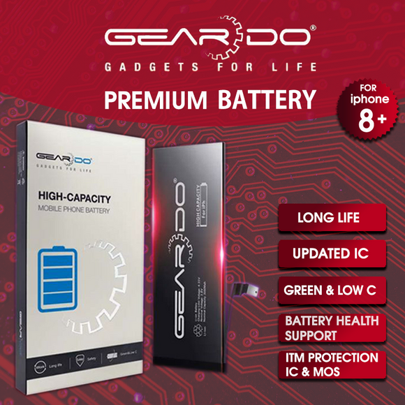 Premium Geardo iPhone 8 Plus Battery High Capacity 3000mAh