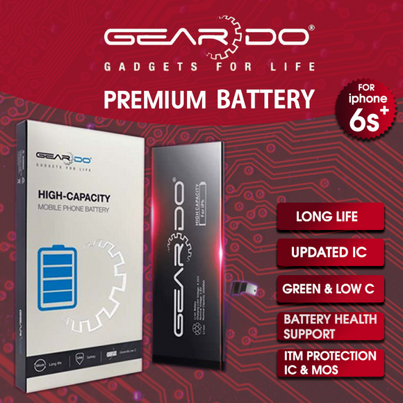 Premium Geardo iPhone 6s Plus Battery High Capacity 3350mAh