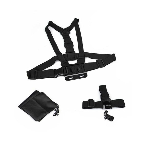 GoPro Head Strap Mount & Chest Harness 3 IN 1 Kit