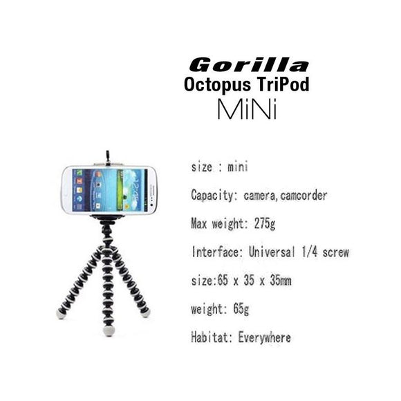 Gorilla Octopus TriPod ( Mini ) For GoPro