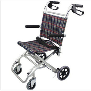 Aluminum Light Folding Wheelchair Disabled Wheelchair Hand Push Portable Wheelchair For Disabled Elderly Practical Walking Tools