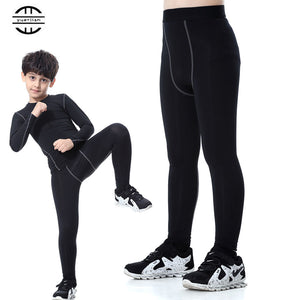 Yuerlian Gym Leggings Sports Tight Fitness Kids Football Kits 2016/17 Sportswear Basketball Jersey Running Pants Boys And Girls