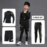 New Kids Running Fitness Pants Set Quick Dry Sportswear Gym Long Sleeve Training Pants Tee Shirt Legging kids Sports Suits