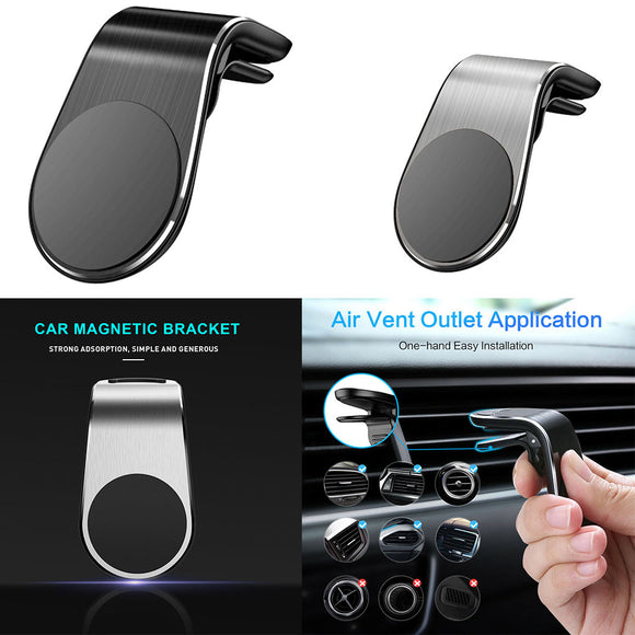 Metal Magnetical Car Phone Holder Mini Air Vent Clip Mount Magnet Mobile Stand For iPhone XS Max for Xiaomi Smartphones in Car