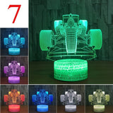 Led Touch Light LED 3D Night Light Child Night Light LED Car Night Light Night Lamp Led  Home Deocration For Boys Man Gifts D30