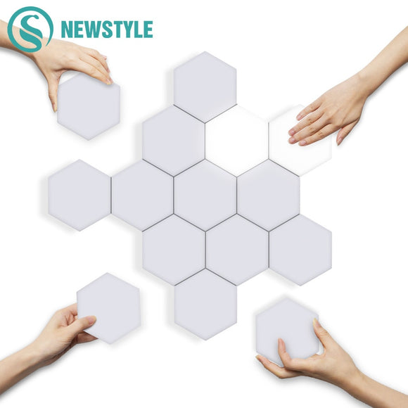 DIY Quantum Lights LED Hexagonal Lamps Wall Lamp Creative Geometry Light Smart Dimmable Touch Sensitive Modular Lighting