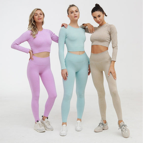 Female Fitness Yoga Set Sportswear Sexy Ensemble Padded Workout Gym Wear Running Clothing Women Sport Suit Tracksuit