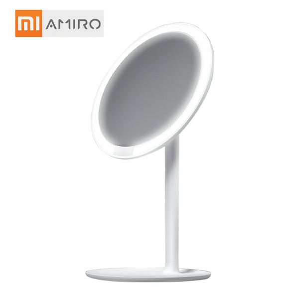 AMIRO HD Daylight Makeup Mirror Vanity Make up Mirrors with Lamp USB Charging Lights Health Beauty Adjustable Mirrors for Xiaomi