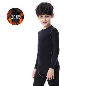 Kids Running T Shirt Quick Dry Sportswear Fitness Sport Tights Children Boys Long Sleeves Gym Training Jogger Long Sleeves Shirt