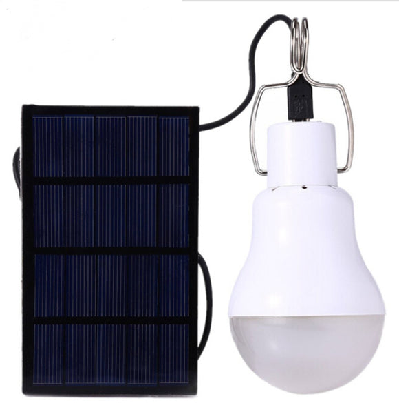 Hot Solar Panel Powered Led Bulb Light Portable Outdoor Camping Tent Energy Lamp 15W