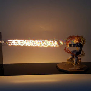 Dragon Ball Z Vegeta Super Saiyan Led Light Lamp Cannon Dragon Ball Super Son Goku Led Table Desk Lamp Luces Navidad