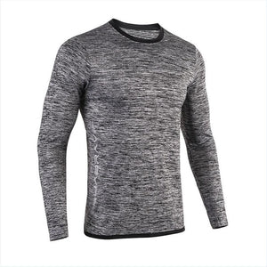 2019 New Running Shirt Men's Rashgard Long Sleeve Gym Shirt Sportswear Compression Dry Fit shirts For Men Fitness Sport T-Shirts
