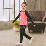 New Kids Sports Suit Baby Girls Quick-drying Running Set Yoga Gym Sportswear Kit For Children High Quality