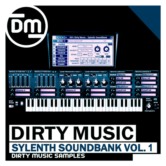 Deep-Tech Sylenth SoundBank Vol. 1 + 33 Bonus Midi Elements