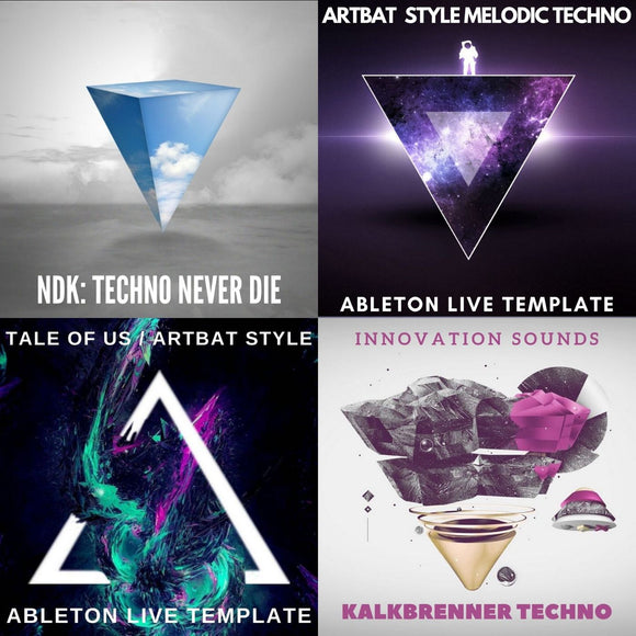 10 Techno Sample Packs + 3 Ableton Live Templates