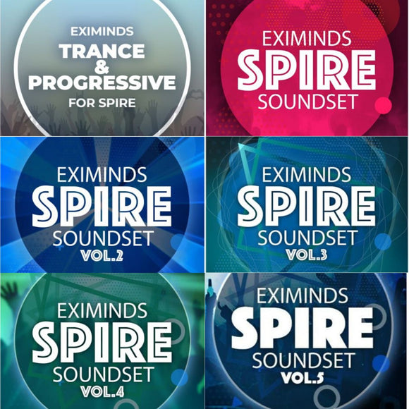 Ultimate 6 in 1 Spire Presets by Eximind + Trance FL Studio Template