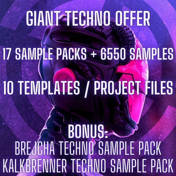 Giant Techno Offer (17 Sample Packs & 6550 Premium Samples + 10 Templates)