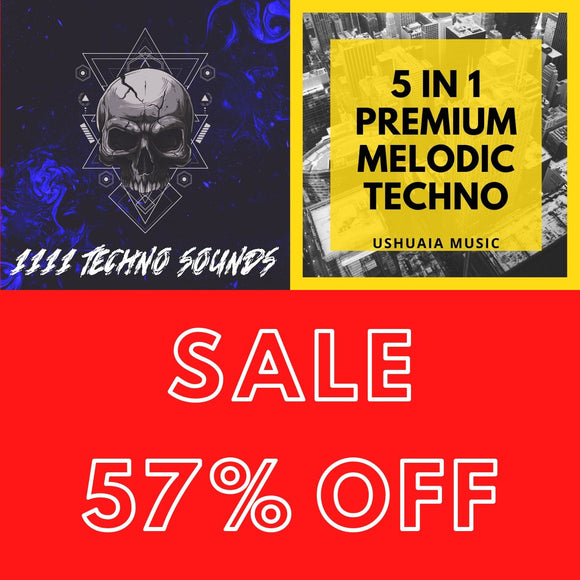 1111 Techno Sounds + 5 in 1 Premium Melodic Techno