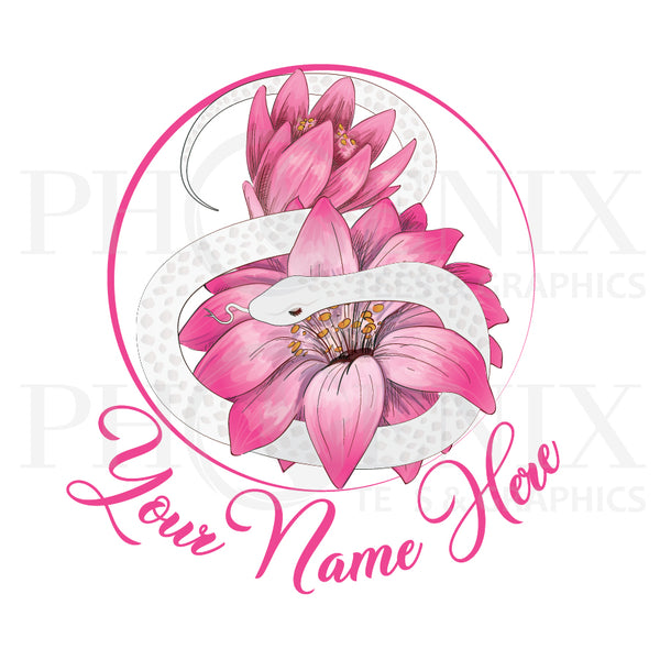 Pre-Made Logo - Snake With Flowers