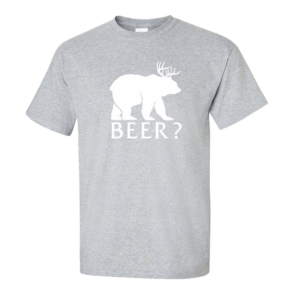 Men's Crew Neck T-shirt - Beer?