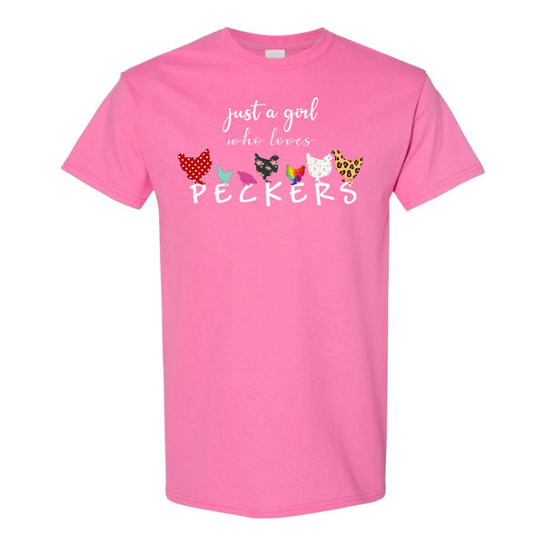 Women's Crew Neck T-shirt - Just A Girl Who Loves Peckers