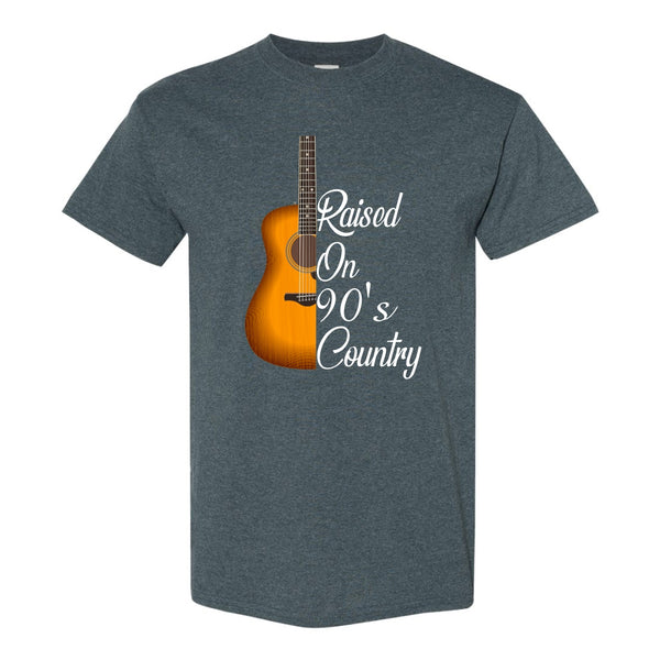 Crew Neck T-shirt - Raised On 90's Country