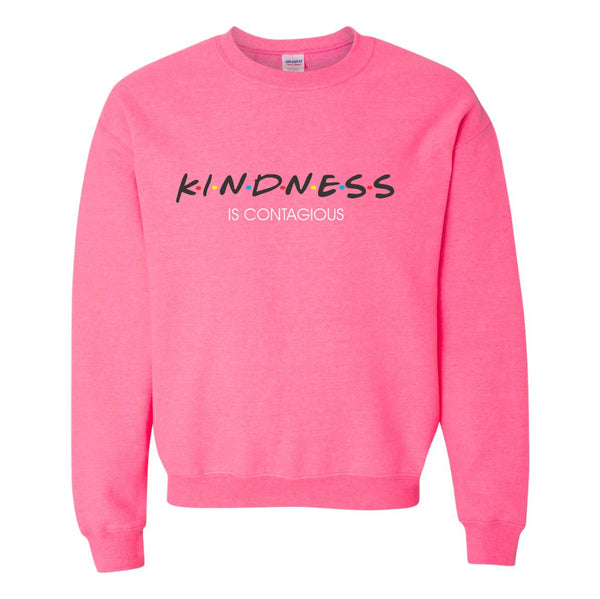 Crew Neck Sweat Shirt - Kindness Is Contagious